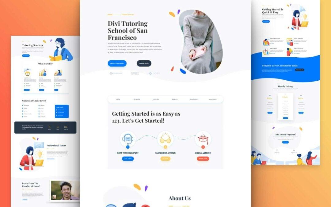 Tutor business – website design