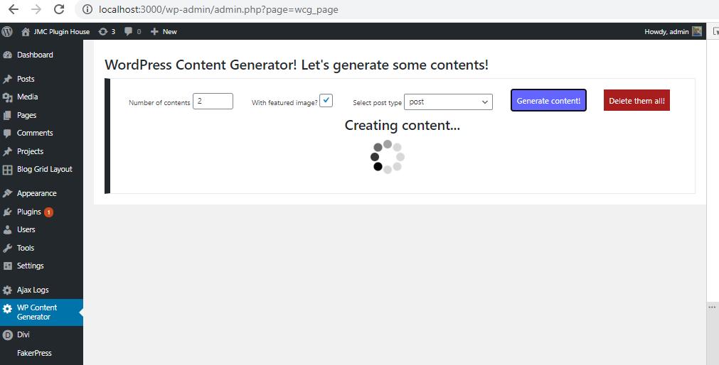 Content Generator – WordPress plugin