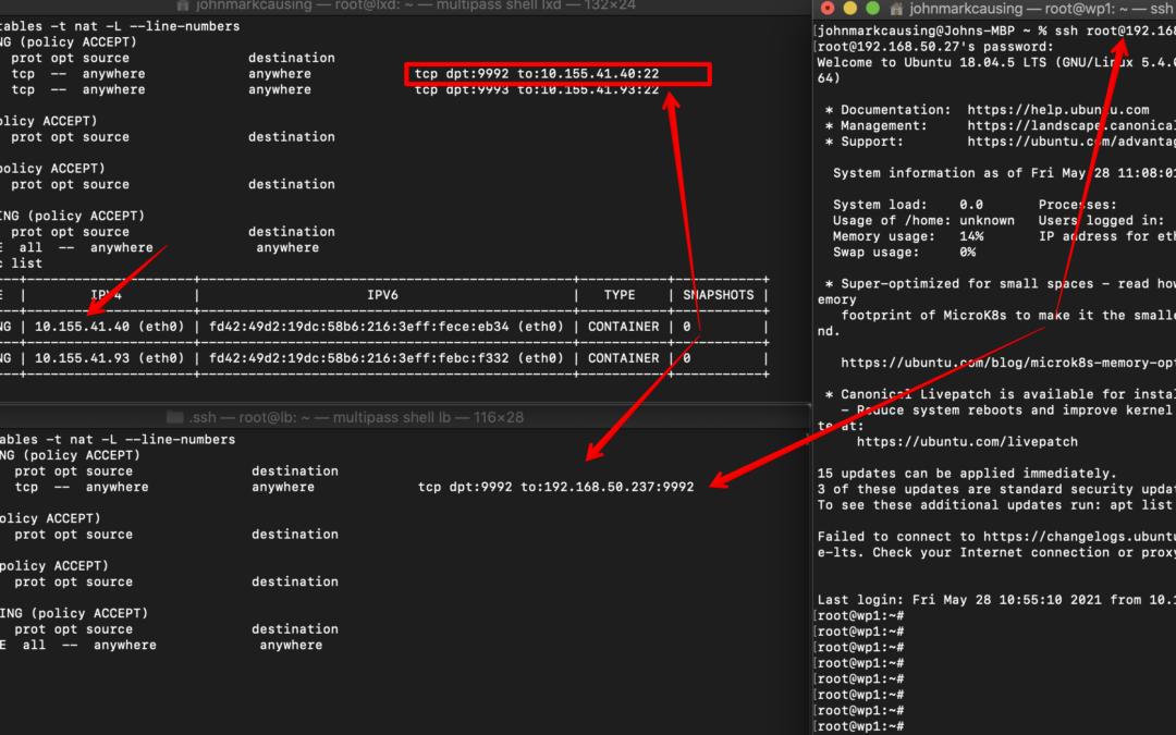 SSH iptables redirect