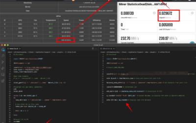 Display hashrate and ETH balance to your macOS status bar