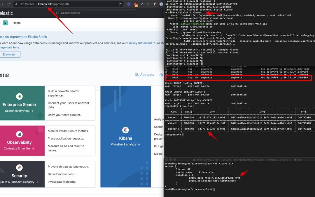 ELK using Multipass (MacOS) + LXD/LXC – Part 2 – Kibana install